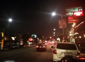 Full moon on Melrose