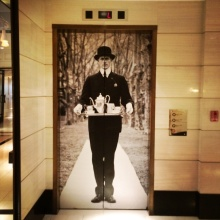 The London, lift lobby