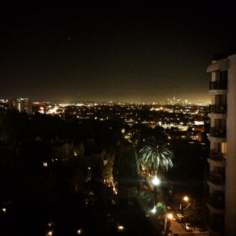 Nighttime over West Hollywood