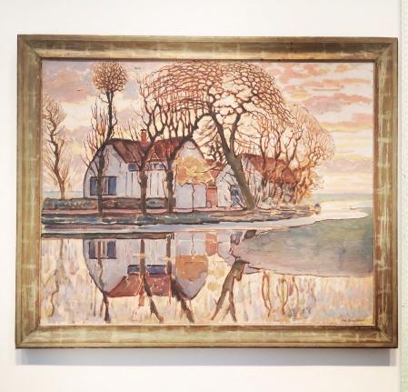 Piet Mondrian, 1872-1944. Farm near Duivendrecht, 1916. Mondrian was way ahead of his time.