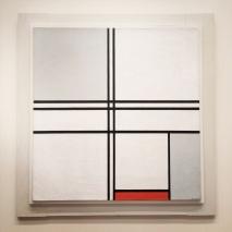 Piet Mondrian, 1872-1944. Composition (No.1) Grey Red, 1935.