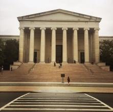 West Building main entrance.