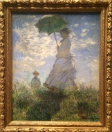 Claude Monet, 1840-1926. Woman with Parasol - Madame Monet and her Son, 1875.
