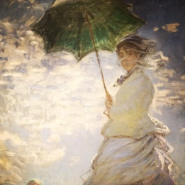 Claude Monet, 1840-1926. Woman with Parasol- Madame Monet and Her Son, 1875.