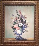 Paul Cezanne, 1839-1906. Flowers in a Rococo Vase, 1876.