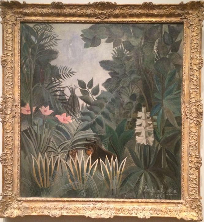 Henri Rousseau, 1844-1910. The Equatorial Jungle, 1909.