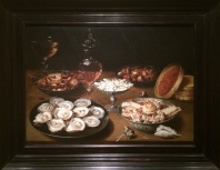 Osias Beert the Elder, Flemish, 1596-1623. Dishes with Oysters, Fruit, and wine, 1620/1625.
