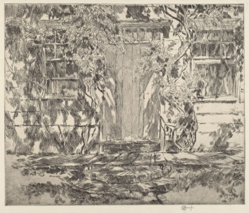 Childe Hassam, 1859-1935. Old Doorway, East Hampton, 1920.