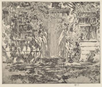 Childe Hassam, 1859-1935. Old Doorway, East Hampton, 1920.
