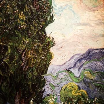 Vincent van Gogh, 1853-1890. Cypresses, 1888.