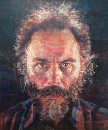 Chuck Close, b.1940. Lucas I, 1986-87.