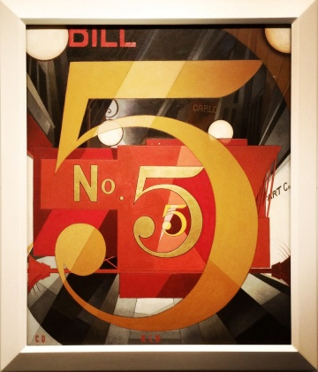 Charles Demuth, 1883-1935. I Saw the Figure 5 in Gold, 1928.