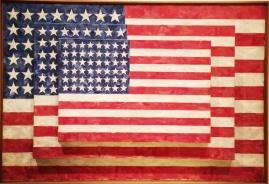 Jasper Johns, b. 1930. Three flags, 1958.