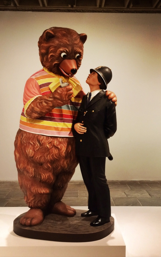 Jeff Koons, b. 1955. Bear and Policeman, 1988.