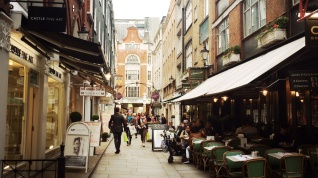 St Christopher's Place, off Oxford Street.