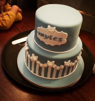 The Christening cake.