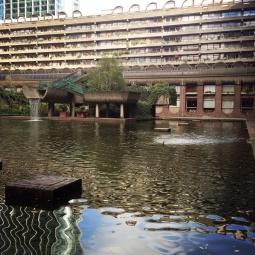 Barbican water garden