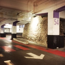 London Wall. Roman, 200AD. Hidden in an underground carpark.