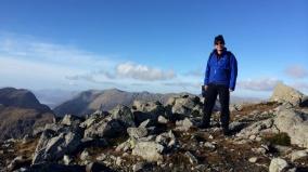 On top of the world: Stob Coire Raineach, 928m.