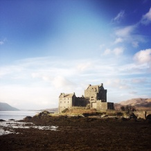Eilean Donan Castle, on a freezing morning.