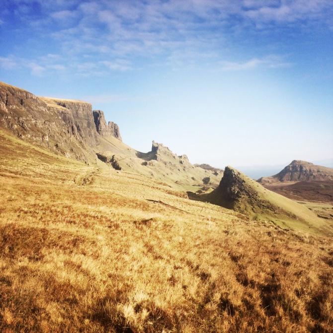Peaks and pinnacles of the Quiraing. Northern Skye.