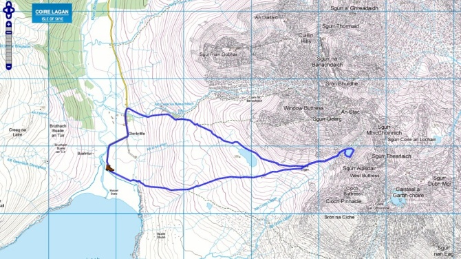 Our route map, from www.walking highlands.co.uk