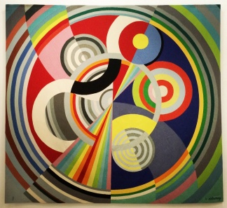 Robert Delaunay, Rythme no.1, 1938/ 1970. A painting reproduced as a tapestry.