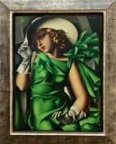 Tamara de Lempicka, 1898-1980. Jeune fille en vert, 1927-1930. My Sister has a beautiful replica of this picture