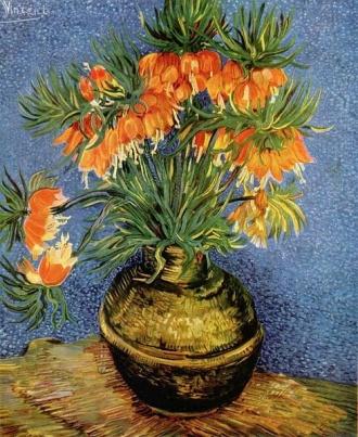Vincent Van Gogh, Fritillaries couronne imperiale dans in vase de cuivre, 1887. I love this piece. I want this piece.