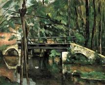 Paul Cezanne, Pont de Maincy, 1879. I wonder if sixties stylisation was influenced by Cezanne?