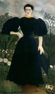 Henri Rouseau, Portrait de Madame M, 1890. Rouseau has a unique kooky style. We love much of his work.