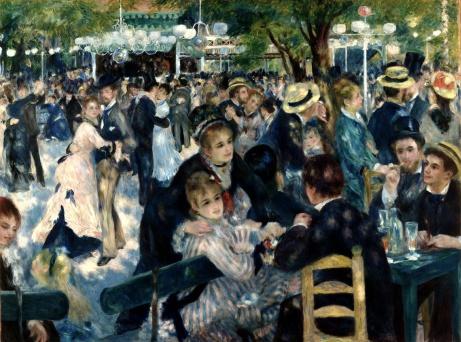 Pierre Auguste Renoir, Bal du Moulin de la Galette, 1876. No reproduction does this piece justice. It's life-size.