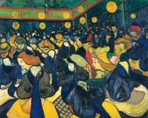 Van Gogh, La Salle de a Arles, 1888. The colour! It is so vivid. The deep blue and bright gold have the effect of jumping off the canvas.