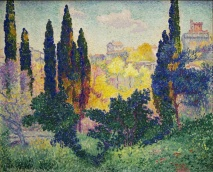 Henri-Edmond Cross, Les Cypres Cagnes, 1908