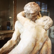Auguste Rodin, 1840-1917. The Kiss, 1881-1882. This is a smaller scaled terracotta 'draft'. In this version their lips don't touch.