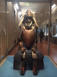 Gusoku Type Armor, European style cuirass with dark blue lacing, Azuchi-Momoyama period, 16th century.